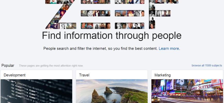 ZEEF-Homepage